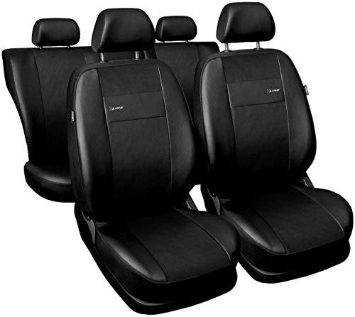 GSC Sitzbezüge Auto Komplett 5-Sitze Universal Autositzbezüge Schonbezüge Vorne Kunst Leder mit Airbag System X-LINE, kompatibel mit Kia Rio (Sitzbezüge Kia Rio Auto)