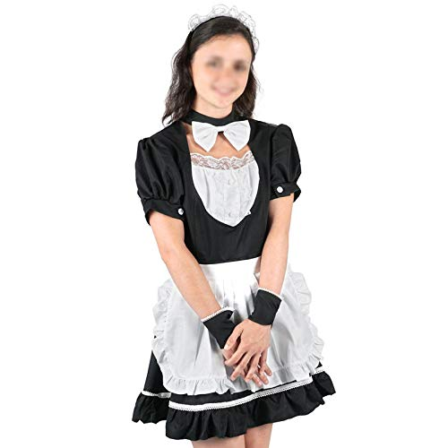 QWERTLH Dessous Für Frauen Dessous Set Schwarzer Spitze Bodysuit Lace Erotic Nightwear Set,L -