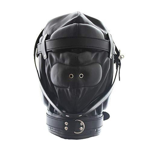 PJOS8E Mund Gimp Kostüm Lederhaube All-Inclusive Schwamm Enge Perücke Nase weibliche (Zombie Brand Kostüm)