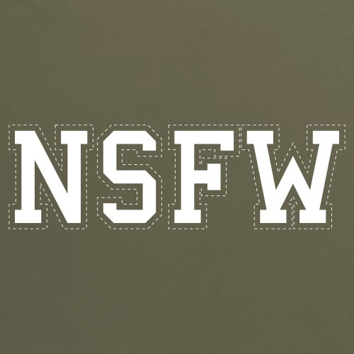 NSFW T-Shirt, Herren Olivgrn