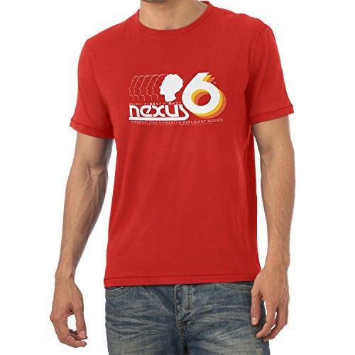 NERDO - Nexus 6 Personalized Humanoid Replicant Series - Herren T-Shirt Rot