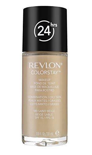 Revlon Fondotinta Colorstay Per Pelle Grassa, Colore Sand Beige, Numero 18, SPF 15