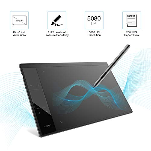 Tableta Gráfica, VEIKK-A30 Tableta Gráfica Portátil