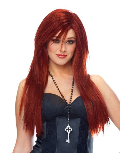 Franco Sleek Red Natural Red Wig One Size