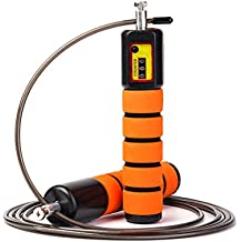 JOYORUN Springseil Speed Rope mit Zähler / Springseil Stahl für Sport Training CrossFit, Fitness-Training, Rope-Skipping, MMA & WODs