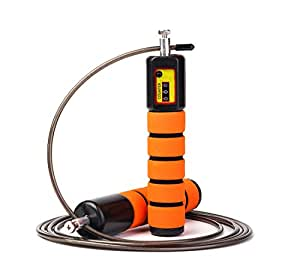 JOYORUN Springseil Speed Rope mit Zähler / Springseil Stahl für Sport Training CrossFit, Fitness-Training, Rope-Skipping, MMA & WODs