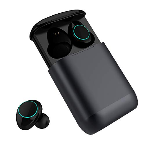 Bluetooth Kopfhörer Kingsky Mini Wireless Earbuds Bluetooth V4.2 True Kabellos Kopfhörer mit Noise Cancelling Mini In Ear kabellose Ohrhörer Freisprechheadset Touchbedienung wasserfest in ear bluetooth headset stereo mit Mikrofon mit Ladekästchen zum Mitnehmen (Zwielicht)