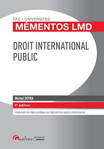 Mémentos LMD - Droit international public , 5ème Ed.