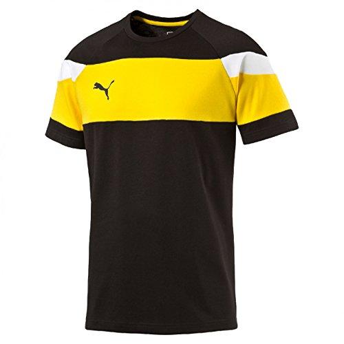 PUMA Herren T-Shirt Spirit II Leisure schwarz / gelb