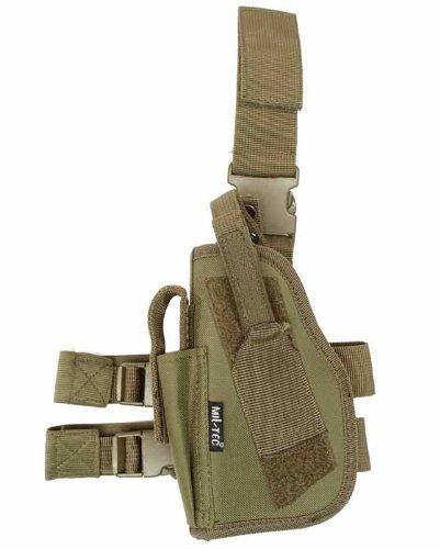Miltec DMoniac Universal-Oberschenkelholster, für Linkshänder, Olivgrün, Einheitsgröße -