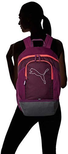 Puma Unisex Echo Backpack Rucksack dark purple-hot coral