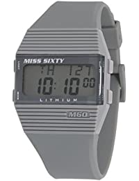 Miss Sixty Ladies Watch Sic005 In Collection Pyramidal with Digital Display and Grey Strap