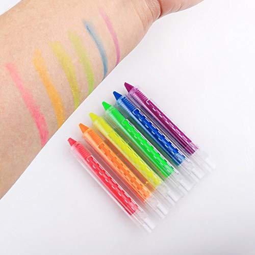 Farben Gesichtsbuntstifte Body Painting Kit Waschbar und ungiftig Malstifte Carry stone ()