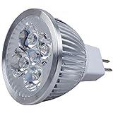 TOOGOO (R) LED MR16 Luz de Foco 12V 4W (340 Lumen - Equivalente a 50 vatios) 3200K Calor Angulo de Haz 45 Grados