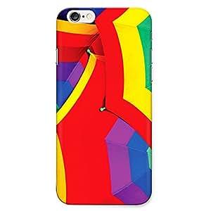 DASM United Apple IPhone 6 Premium Back Case Cover - Multi Color Umbrella