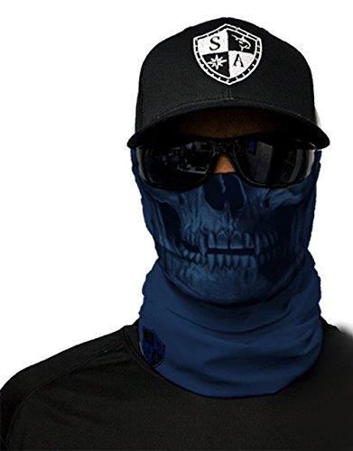 SA Fishing Face Shields ** 40+ Designs verfügbar ** Qualitäts Bandana / Multifunktionstuch / Schlauchtuch / Halstuch aus Stoff & SPF 40 - Face Masks von SA Company, Navy Skull