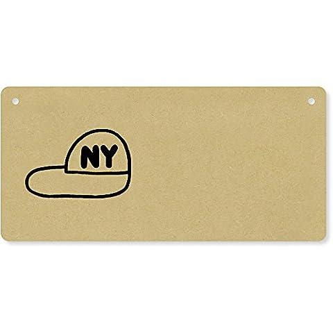 'New York Baseball Cap' Wooden Wall Plaque / Door Sign (DP00025635)