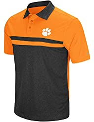 "Clemson Tigers NCAA ""Bails"" Men's Performance Polo shirt Chemise - Black"