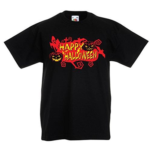 Bats, Ghosts, Pumpkins - Halloween Outfit Full of Spookiness (7-8 Years Schwarz Mehrfarben) ()