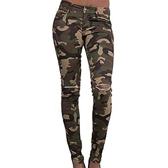 scothen damen jeans stretch hose zerrissen high waist jeanshose skinny hochbund hose jeanshose. Black Bedroom Furniture Sets. Home Design Ideas