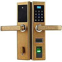 BLWX - Cerradura de Puerta Inteligente de aleación de Zinc + Huella Digital de Acero Inoxidable