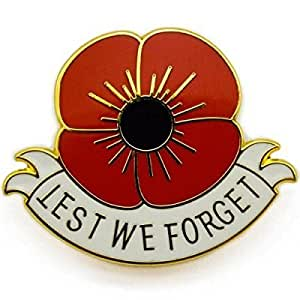 Lest We Forget Poppy Lapel Pin