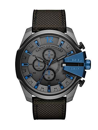 Diesel Herren Chronograph Quarz Uhr mit Nylon Armband DZ4500