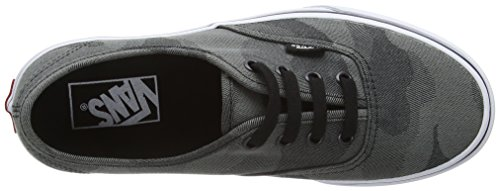 Vans Authentic, Baskets Basses Mixte Adulte Gris (Camo Jacquard black/true white)