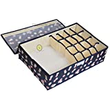 Yellow Weaves™ Undergarments Organizer/Foldable Storage Box with Lid for Drawers