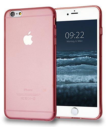 MyGadget TPU Silikon Hülle für - Apple iPhone 6 Plus / 6s Plus - ultra dünn (1 mm) inkl. Staubschutz Gummi Schutzhülle Cover Crystal Case Silikonhülle in Transparent TPU Rosa