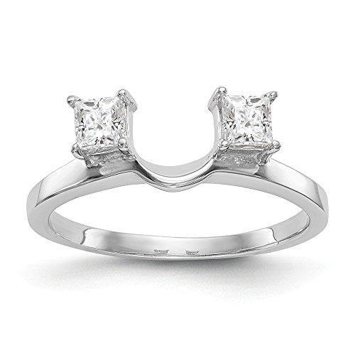 Ringschutz, 14 Karat (585) Weißgold Diamant 0,5 Karat H-SI2 -
