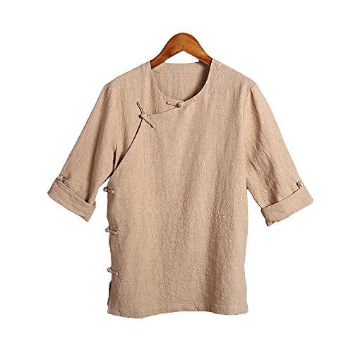 Chinesischer Stil Männer Kleidung Tang Anzug Line Hemd National Kostüm kurz–sleeved, (Nationalen Für Chinesischen Kostüm Männer)