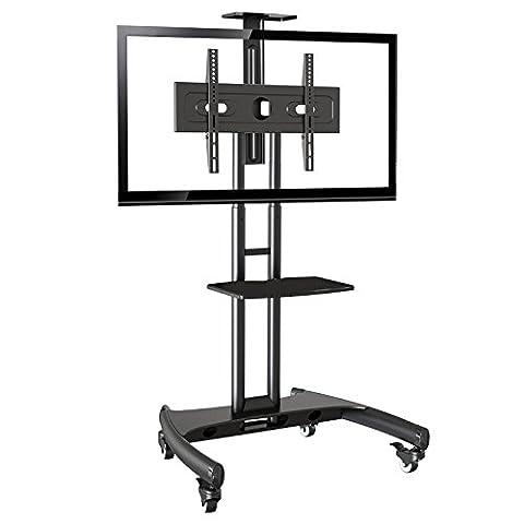 North Bayou AVA1500-60-1P Standfuss LCD LED Plasma TV Trolley mobil,TV Wagen, Staender mit feststellbaren Rädern