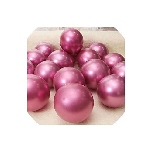 Sobre-mesa 10/20/30 pcs 12 inch Gold Silver Black Latex Balloons Wedding Decorations Helium Birthday Party Decorations,Metal hot pink,30pcs (Inflatables Halloween 2019)