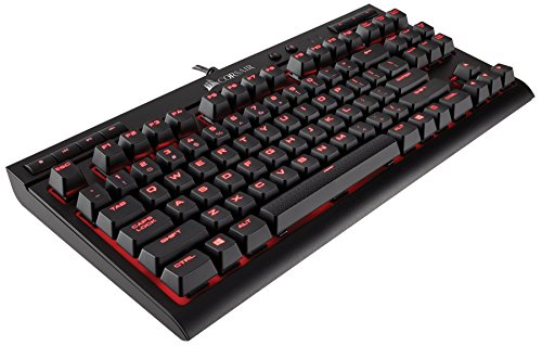 Mechanical Gaming Keyboard - Linear & Quiet - Cherry MX Red (Certified Refurbished) ()