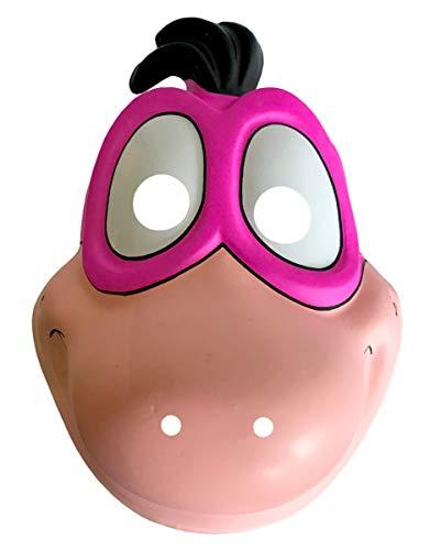 Horror-Shop Lizenzierte Flintstones Dino Halbmaske als Kostüm Accessoire für Kinder (Flintstones Dino Kostüm)