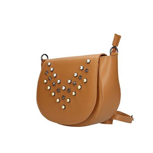 Chicca Borse Borsa a tracolla in pelle 20x17x7 100% Genuine Leather Cuoio