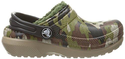 Crocs 203508, Sabots Fille, Léopard Vert