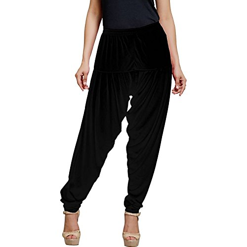 Smartees Black Color Viscose Patiala Pants for Women