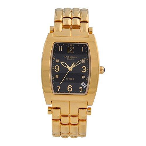 Krug-Baumen 1965DMG Tuxedo Gold 4 Diamant-schwarzes Zifferblatt Gold Band (Tuxedo Gold)
