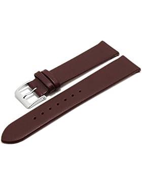 Meyhofer EASY-CLICK Uhrenarmband XS Weser 16mm bordeaux Leder glatt ohne Naht Made in Germany My2gfml4001