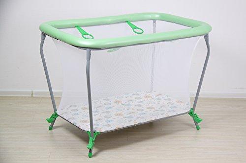 Polini Kids 1455-4 - Parque infantil para bebés (portátil), diseño de búhos, color verde