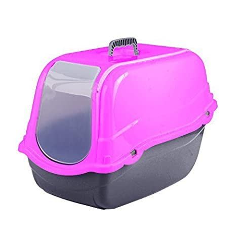 Click & Secure Pet Cat Litter Tray Toilet Box (Pink)
