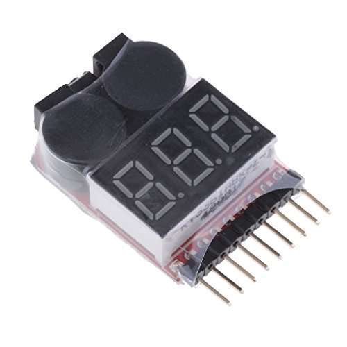 Price comparison product image Baoblaze 1Pcs Pocket Size Lipo Battery Low Voltage Tester Checker 1S-8S Buzzer Alarm with LED Indicator