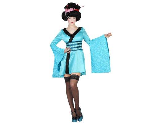 Atosa 19313 - Geisha Kostüm, Größe M-L, hellblau (Geisha Kostüme Kleid)
