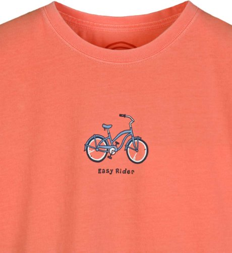 Life is Good Damen Easy Rider Bike Short Sleeve Tee Beach Ball