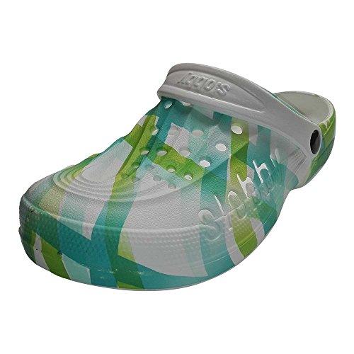 Slobby Slobby Donna Verde Bianco Donna Pantofole UOOxpw