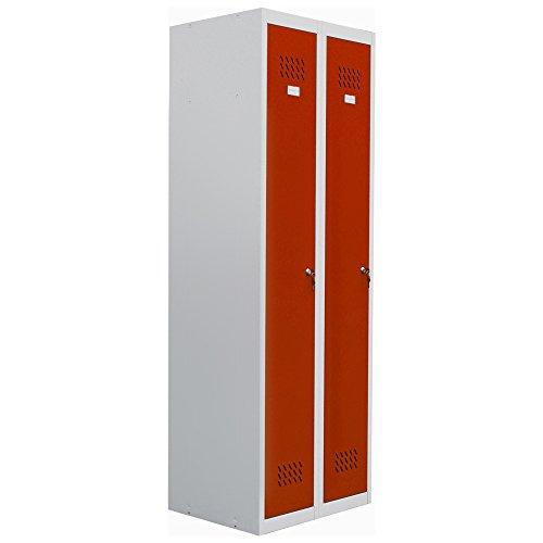 pro-bau-tec Doppelspind Garderobenschrank, rot, 20004