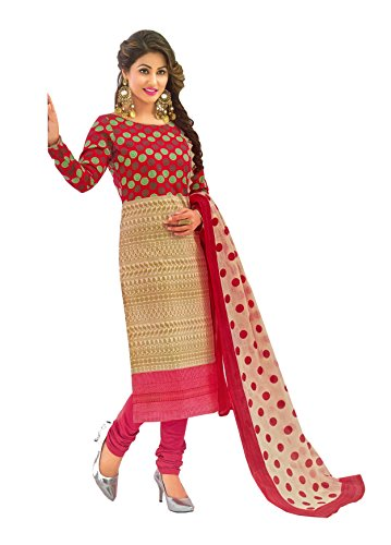 AngelFab Unstitched Cotton Dress Material / Churidar Suit for Women   Party wear   Free Delivery