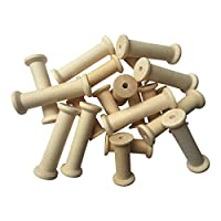 Kids B Crafty 20 Wooden Spools Bobbins 2 Sizes 75mm And 50mm
